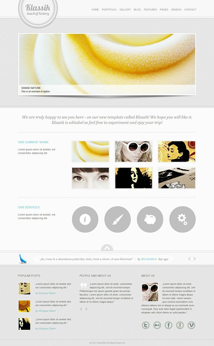 Projekt: Klassik - HTML Template