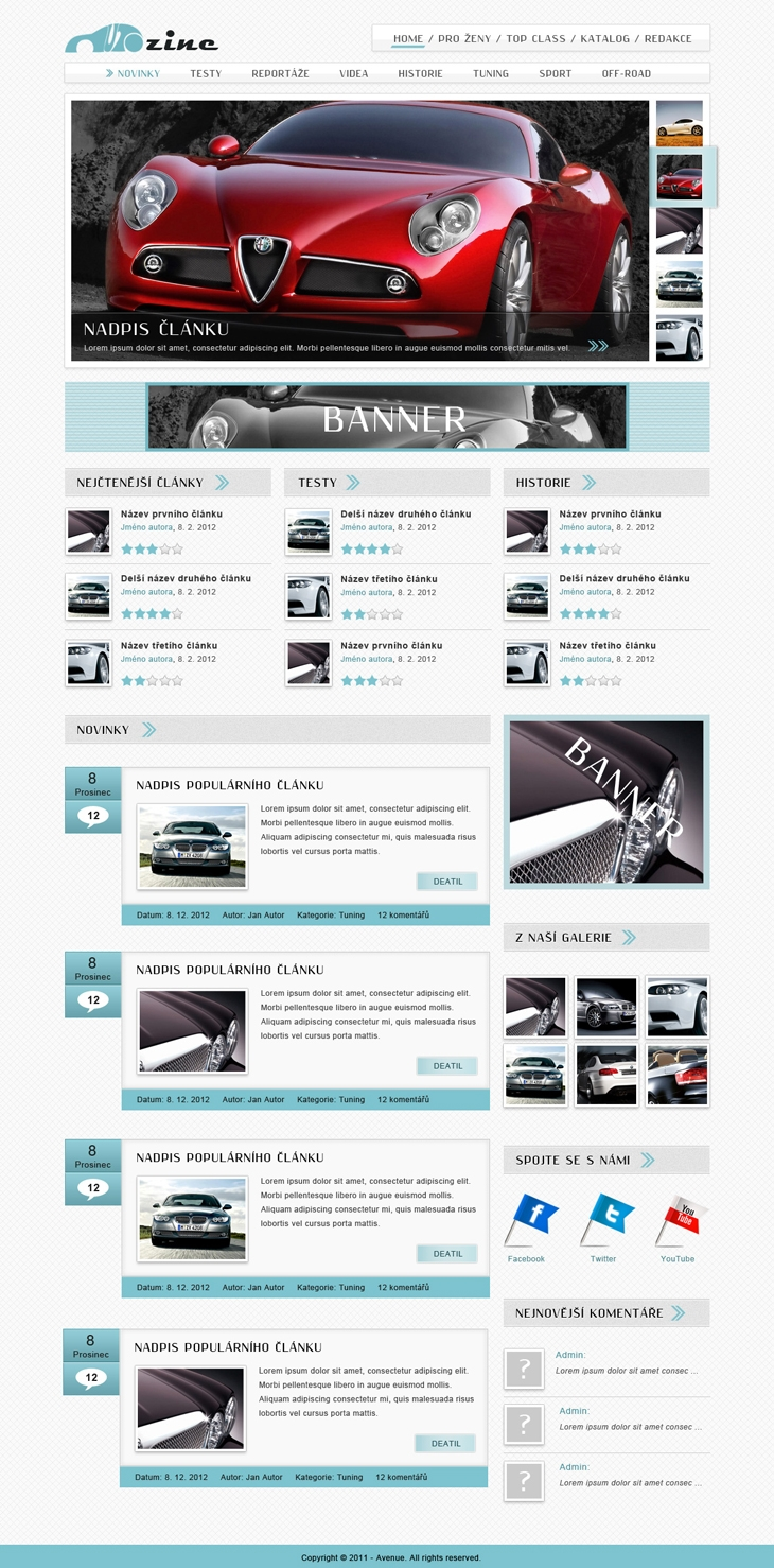 Projekt: Autozine