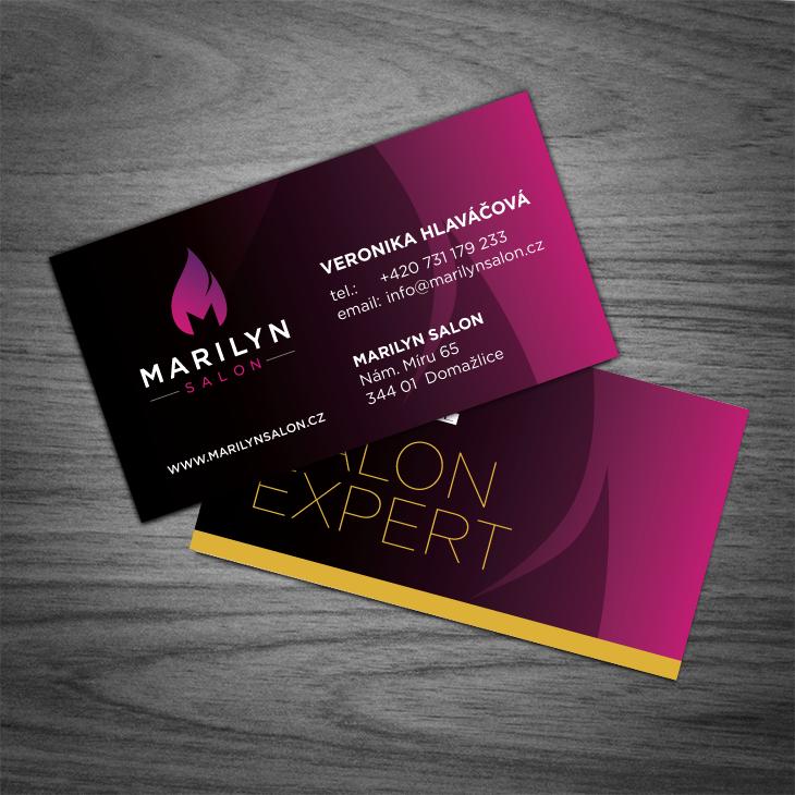 Projekt: Marilyn Salon - vizitka