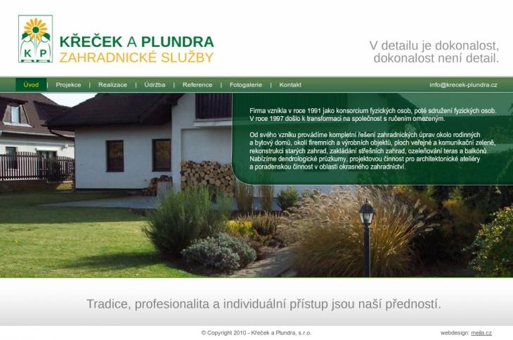 Projekt: Zahradnictví Křeček a Plundra