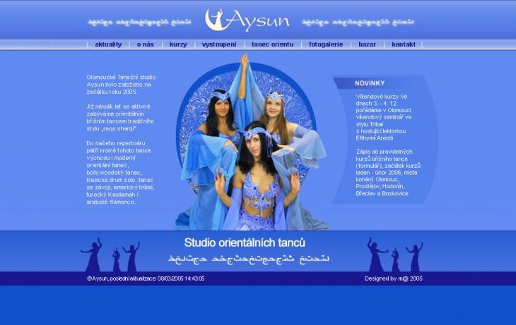 Projekt: Aysun - taneční studio