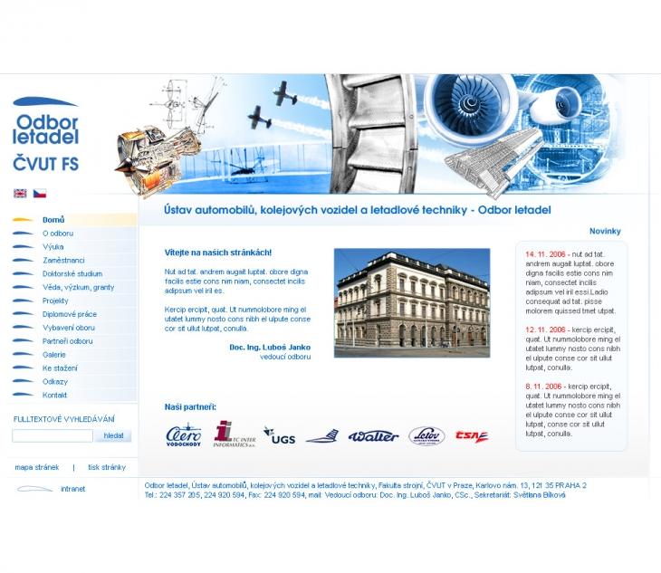 Projekt: ČVUT - Odbor letadel