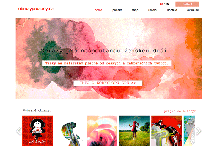 Projekt: webdesign pro obrazyprozeny.cz