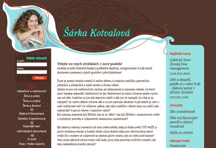 Projekt: Šárka Kotvalová