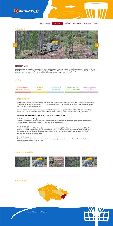 Projekt: discgolfpark.cz