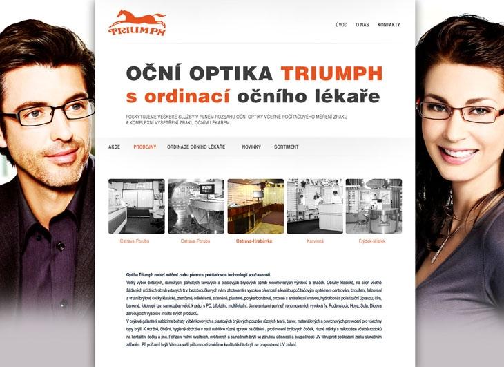 Projekt: triumphoptical.cz